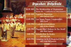 Las Vegas Pagan Pride 2016 Speaker Schedule